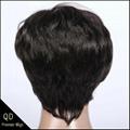 Rihanna Style Short Bob Indian Remy Hair Machine Made Wigs 1