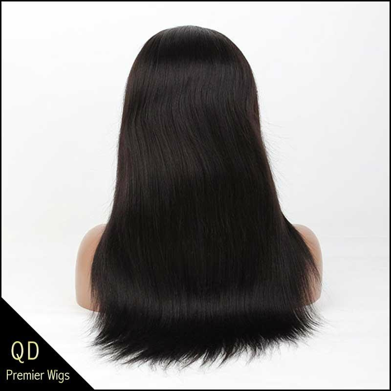 Indian remy hair light yaki glueless cap full lace wigs  1