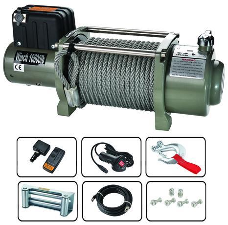 SEC16800T  電動絞盤 16800lb 1
