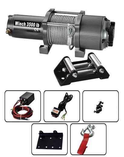 P3500-1D  ATV絞盤 3500LB 1