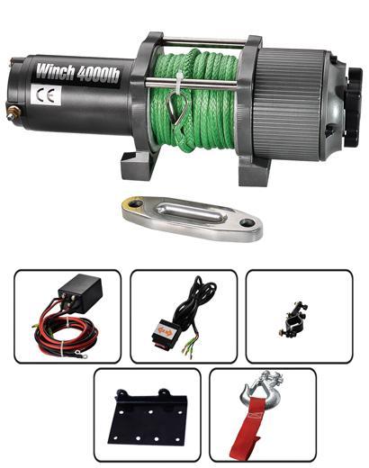 P4000-1W 電動絞盤 4000lb 1