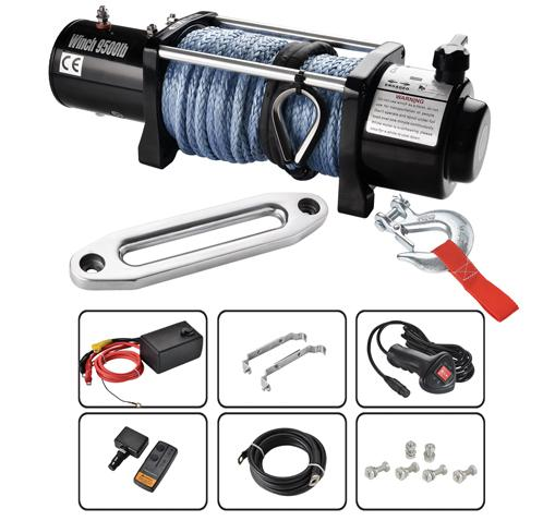 HEAVY DUTY ELECTRIC WINCHES 9500LB 1