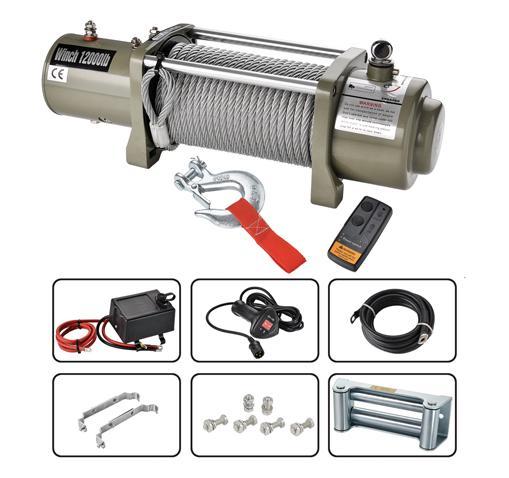 Heavy Duty Electric Winch 12000lbs