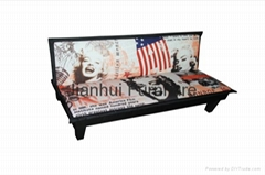 Print European Modern Style Fabric Sofabed