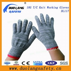 7 Gauge Cotton Polyester String Knitted Working Gloves