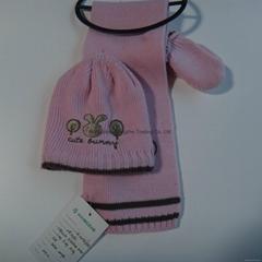 Knitting scarf & hat set