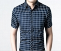 2015 new fashion men shirt short sleeve