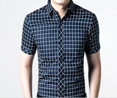 2015 new fashion men shirt short sleeve summer style