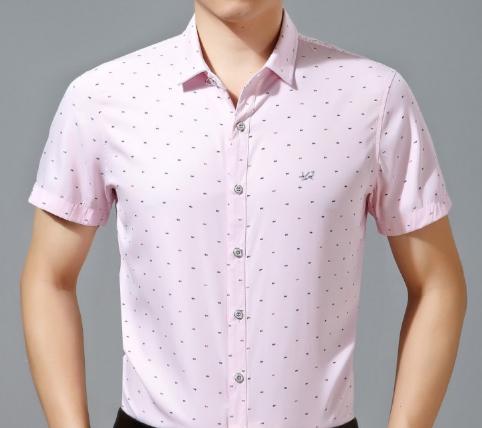 2015 new fahion casual business summer style men shirt cutton short sleeve  1