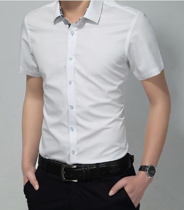 2015 new fahion casual business summer style men shirt cutton short sleeve  5