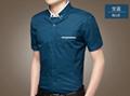 2015 new fahion casual business summer style men shirt cutton short sleeve  4
