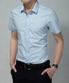 2015 new fahion casual business summer style men shirt cutton short sleeve  2