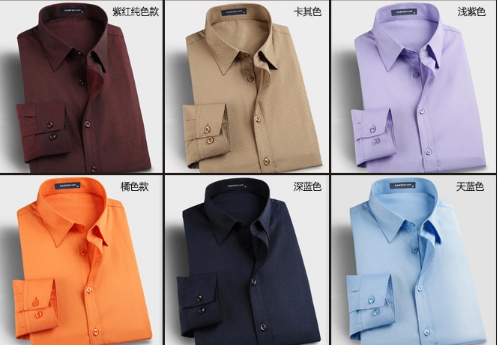2015 new fashion casual business grid pure men shirt long sleeve spring autumn 1