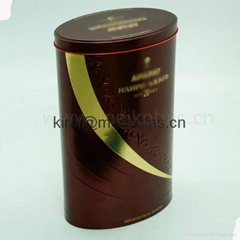Oval Ellipse wine tin box