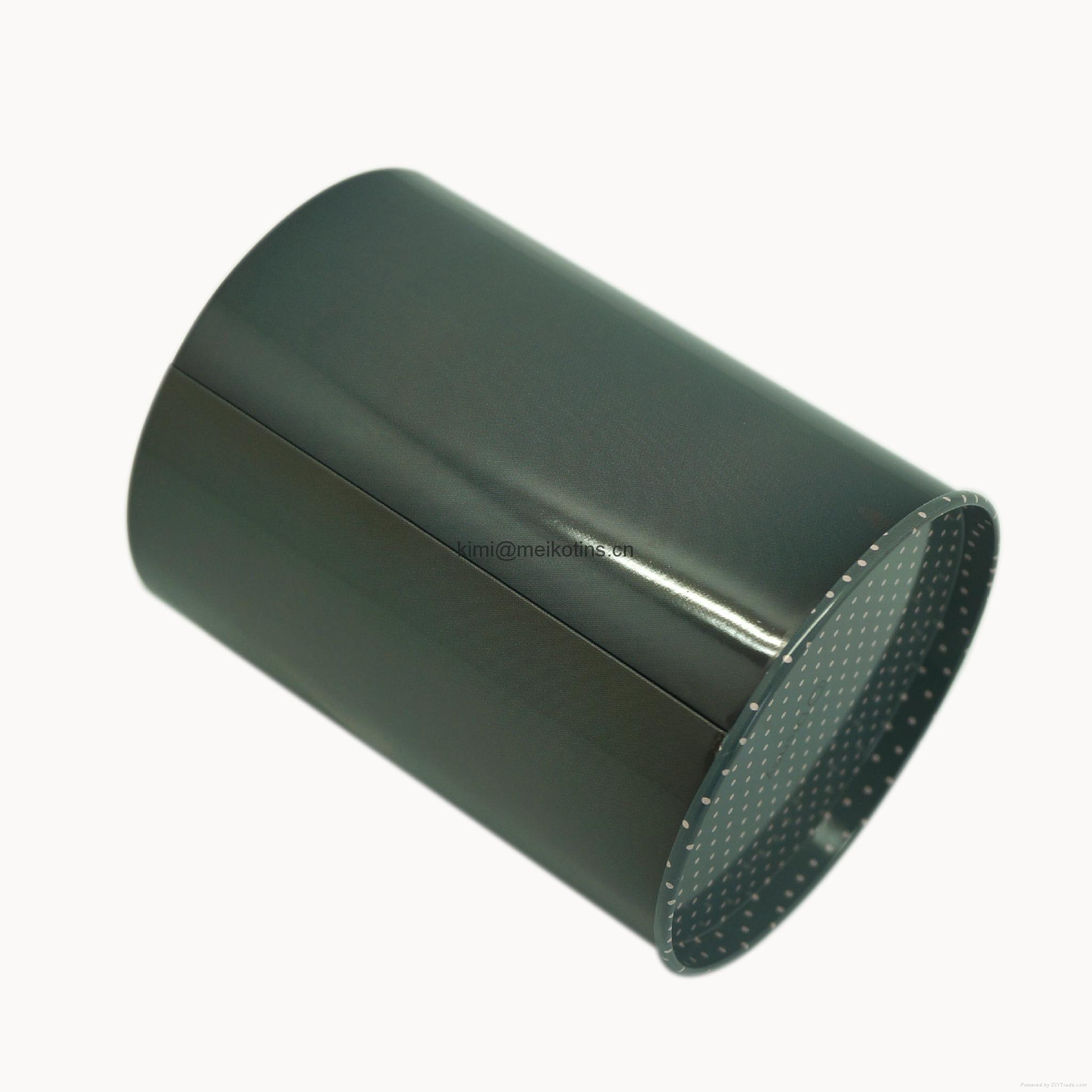 Round tin pencil holder 2