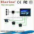 """Harine provide 7"""" Color rear view system"""