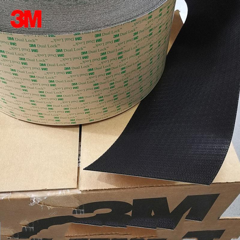 3M SJ4575黑色背胶双锁蘑菇头搭扣装饰物品固定搭扣 3