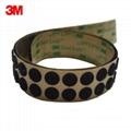 3M SJ4575黑色背胶双锁蘑菇头搭扣装饰物品固定搭扣 5