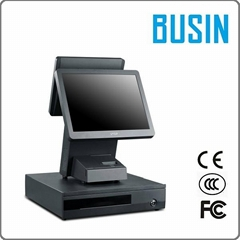 BUSIN POS System Dual Screen with 15""
