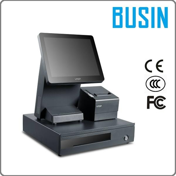 "12.1"" 10-point Capacitive Touch Screen POS w/ VFD Customer Display & 80mm Printe 1"