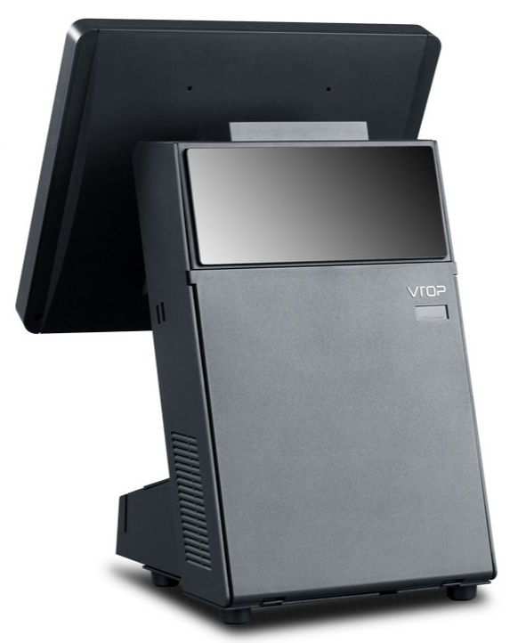 """12.1"""" 10-point Capacitive Touch Screen POS w/ VFD Customer Display & 80mm Printe 3"""