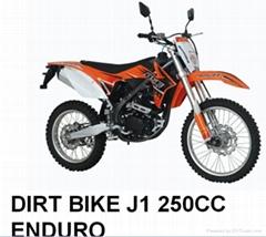 KTM style high quality 250cc J1 enduro dirtbike with light mirror china manufact