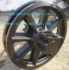 50 Ton Crawler Crane Hitachi KH180-3 CX500 Undercarriage Parts Idler Guide Wheel