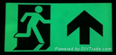 Photoluminescent Ground Exit Signs