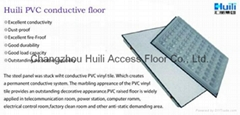 PVC finish conductive raised access flooring