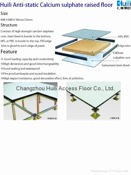 HPLPVC Finish Calcium Sulphate Raised Access Flooring HLC - Raised floor construction detail
