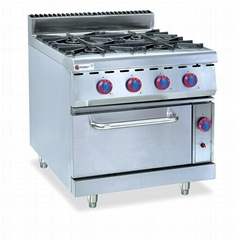 Gas Ragne 4-Burner Stove & Electric Oven