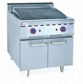 Gas Lava Rock Grill With Cabinet