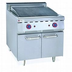 燃氣火山石燒烤爐連櫃座