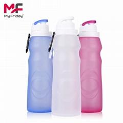 硅膠折疊水瓶運動水壺