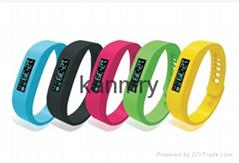 Wireless wrist watch pedometer activity and sleep tracker