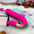Waterproof silicon rechargeable vibrator sex toy for woman