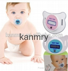 Waterproof non-toxic silicagel baby pacifier thermometer