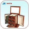 Wood Box for Jewelry Cosmetic Make up