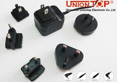 interchangeable plugs universal travel ac dc power adapter