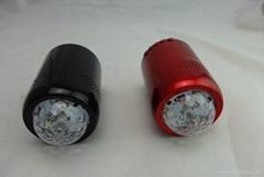 LED portable disco light bluetooth speaker with FM radio and USB TF card