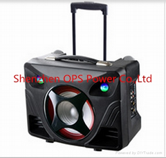 2015 hot product Featured Product Trolly Speaker With Rechargeable Battery