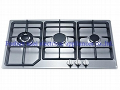 3 burners stainless steel panel gas cooker(9133S1)