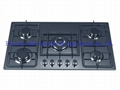 5 burners tempered glass panel gas cooker(9245S8/9)