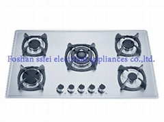 5 burners stainless steel panel gas cooker(9285S1-A/B)