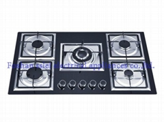 5 burners tempered glass panel gas stove(8245G3/4)
