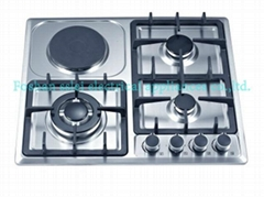 4 burners stainless steel panel gas stove(6124SE1/SC1)