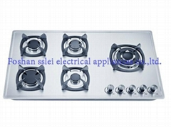 5 burners stainless steel panel gas stove(9285S4-A/B)