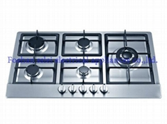 5 burners stainless steel panel gas stove(9215S1/6)
