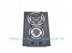 2 burners tempered glassl panel gas stove(3112G1)
