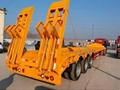 Sinotruk 3axles Semi-Trailer Low Bed